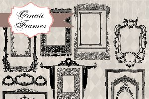 Ornate Frames Clipart & Brushes