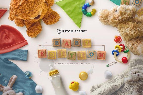 Baby Edition Custom Scene Product Mockups Creative Market