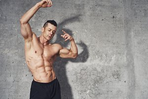 Fit and healthy fitness male