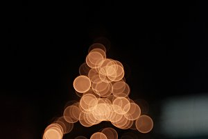 Defocused christmas tree