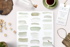 Watercolor clipart Paint Strokes
