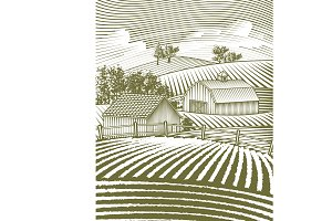 Farm Scene Landscape