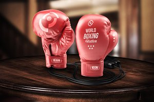 Boxing Gloves - Mockup