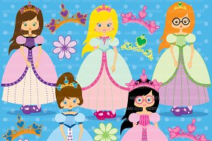 Little Princesses clipart AMB-201