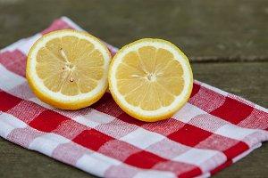 Two lemon half`s
