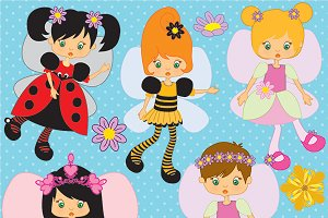 Little Fairys clipart AMB-204
