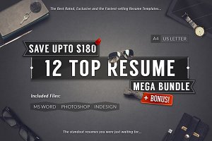 12 Top Selling Resume Mega Bundle
