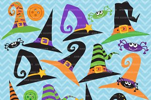 Witches hats clipart AMB-207
