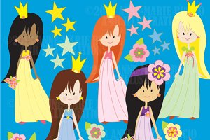 First Princesses Clipart AMB-215