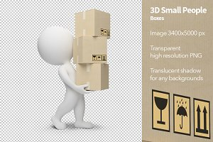 3D Small People - Boxes