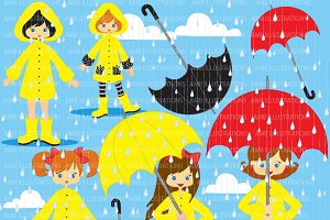 Rainy Days Clipart AMB-217