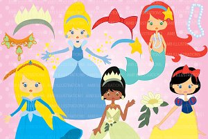 Fairytale Princesses Clipart AMB-219