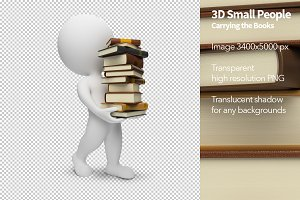 3D Small People - Carrying the Books