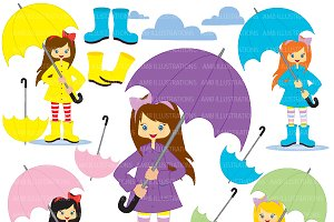 Rainy Day Clipart AMB-220