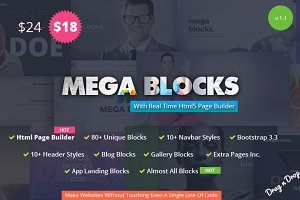 Mega Blocks - With Html Page Builder