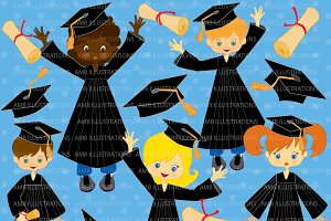 Grad Kids in Black Gowns AMB-222