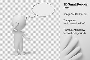 3D Small People - Think