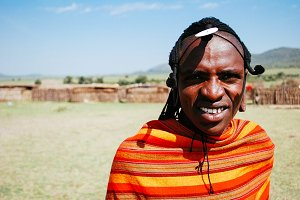 Masai man in Kenya, Africa