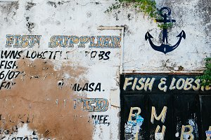 Old lettering on the wall