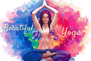 Beautiful Yoga&Meditation Women