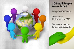 3D Small People - Peace on the Earth