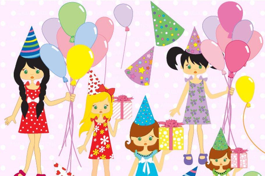 Birthday Party Clipart AMB 251 Illustrations Creative Market