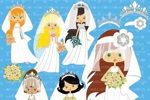 Blushing Brides Clipart AMB-256