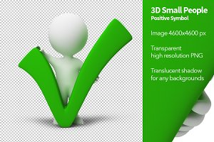 3D Small People - Positive Symbol