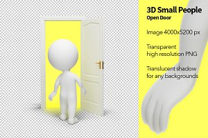 3D Small People - Open Door