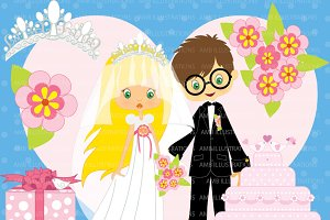 Bridal Couple Clipart AMB-260