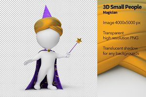 3D Small People - Magician