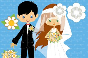 Bridal Couple Clipart AMB-262
