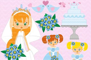 Bride and Bridesmaid Clipart AMB-264