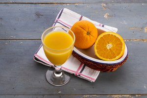 Orange juice in a cup