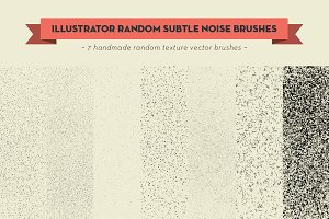 Vector random noise brushes
