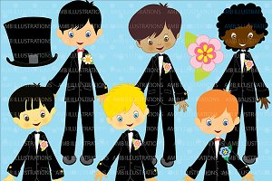 Handsome Grooms Clipart AMB-274