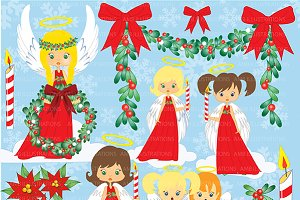 Christmas Angels Clipart AMB-279