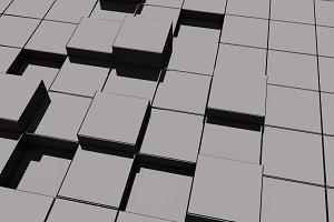 Black glassy cubes
