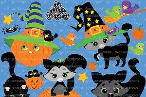 Halloween Cat Clipart AMB-298