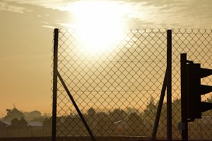 Loheac sun rise France