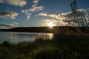 Reservoir Sun Set