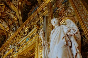 Inside Luxembourg palace in Paris