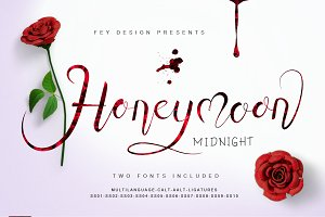 Honey Moon Midnight - Two Fonts