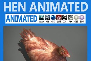 Animated Hen