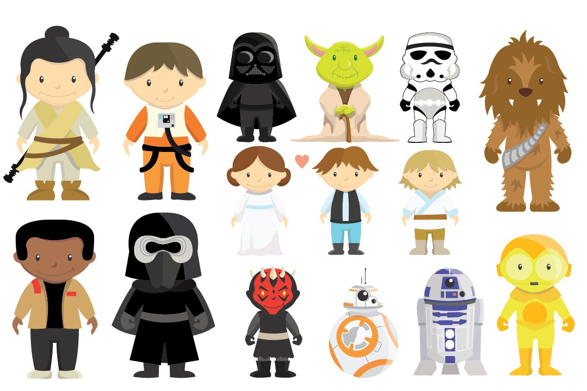 Amazing image with star wars clip art free printable