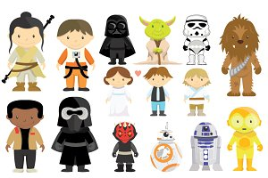 Star Wars Characters Clipart Set