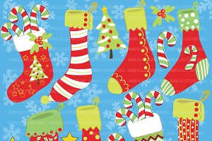 Christmas Stocking Clipart AMB-374