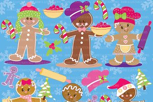 Gingerbread Pastel Clipart AMB-378