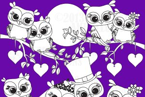 Owl Love Stamps AMB-369