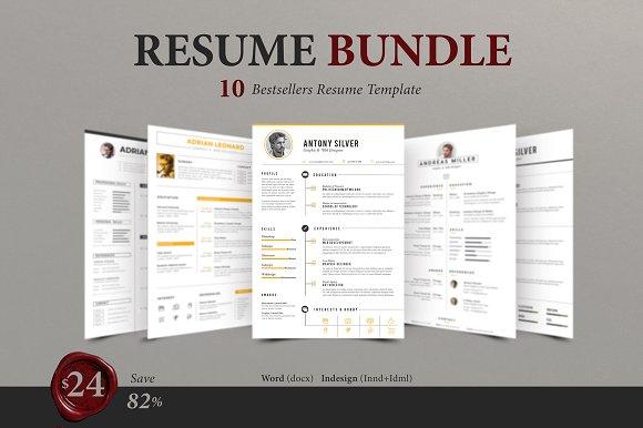 premium resume bundle resume templates creative market